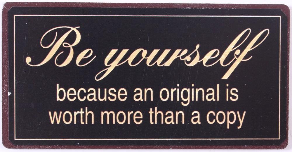 La finesse Magnet Be yourself, černá barva, kov