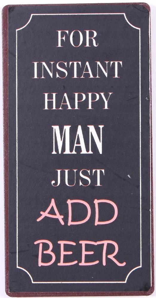 La finesse Magnet For instant happy man, černá barva, kov