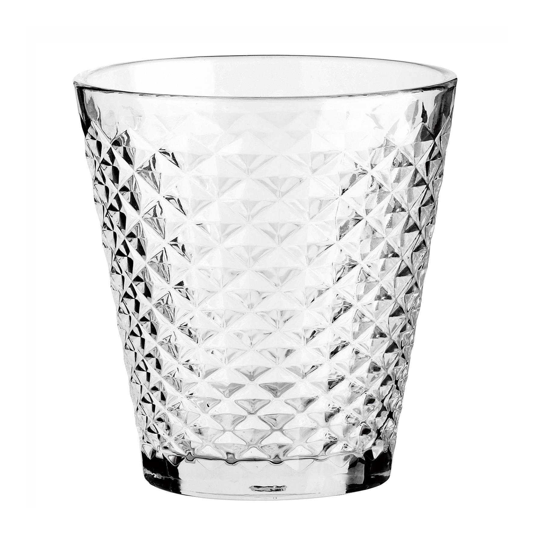 Tine K Home Váza Facet Clear, čirá barva, sklo