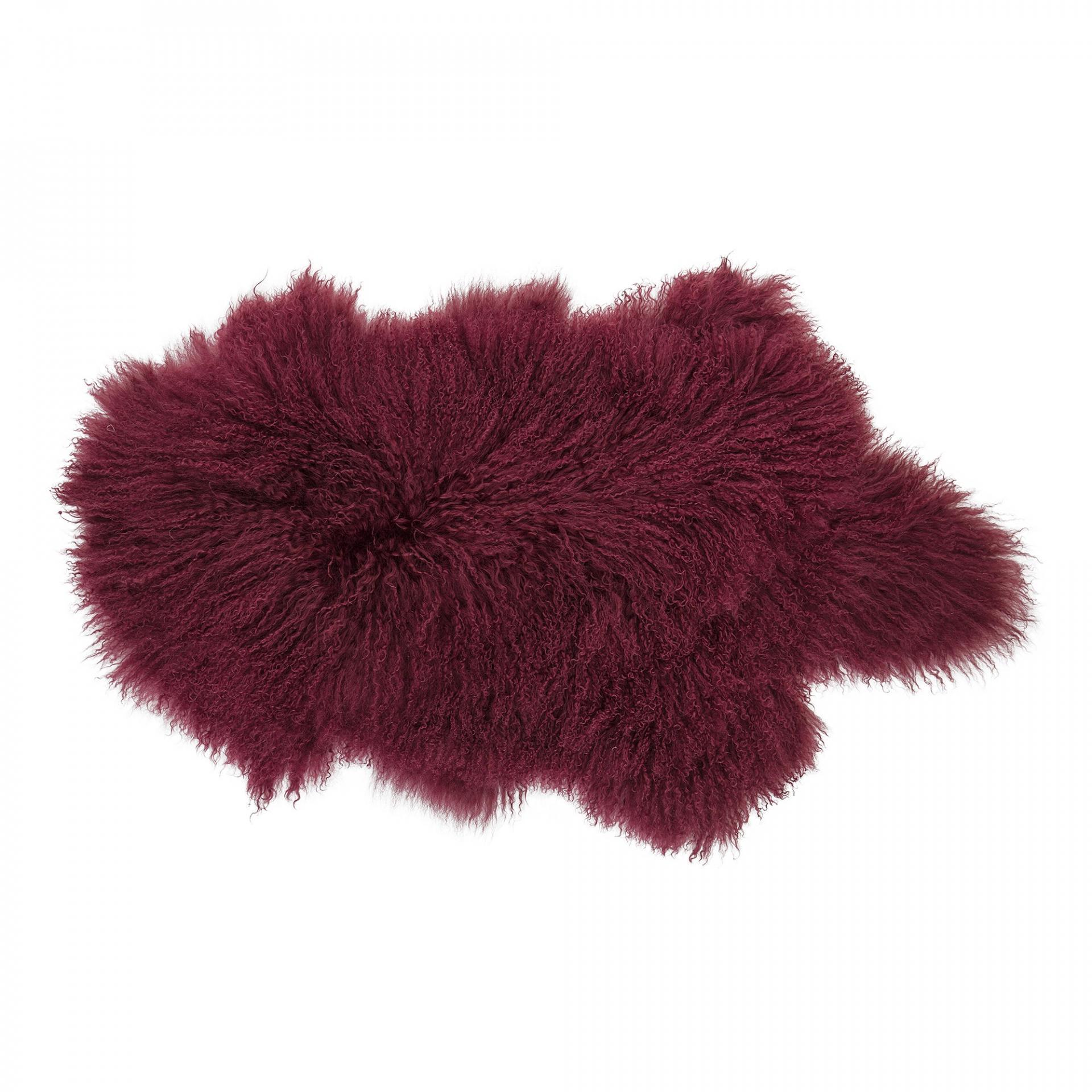 Bloomingville Mongolská ovčí kožešina Red, červená barva, kožešina