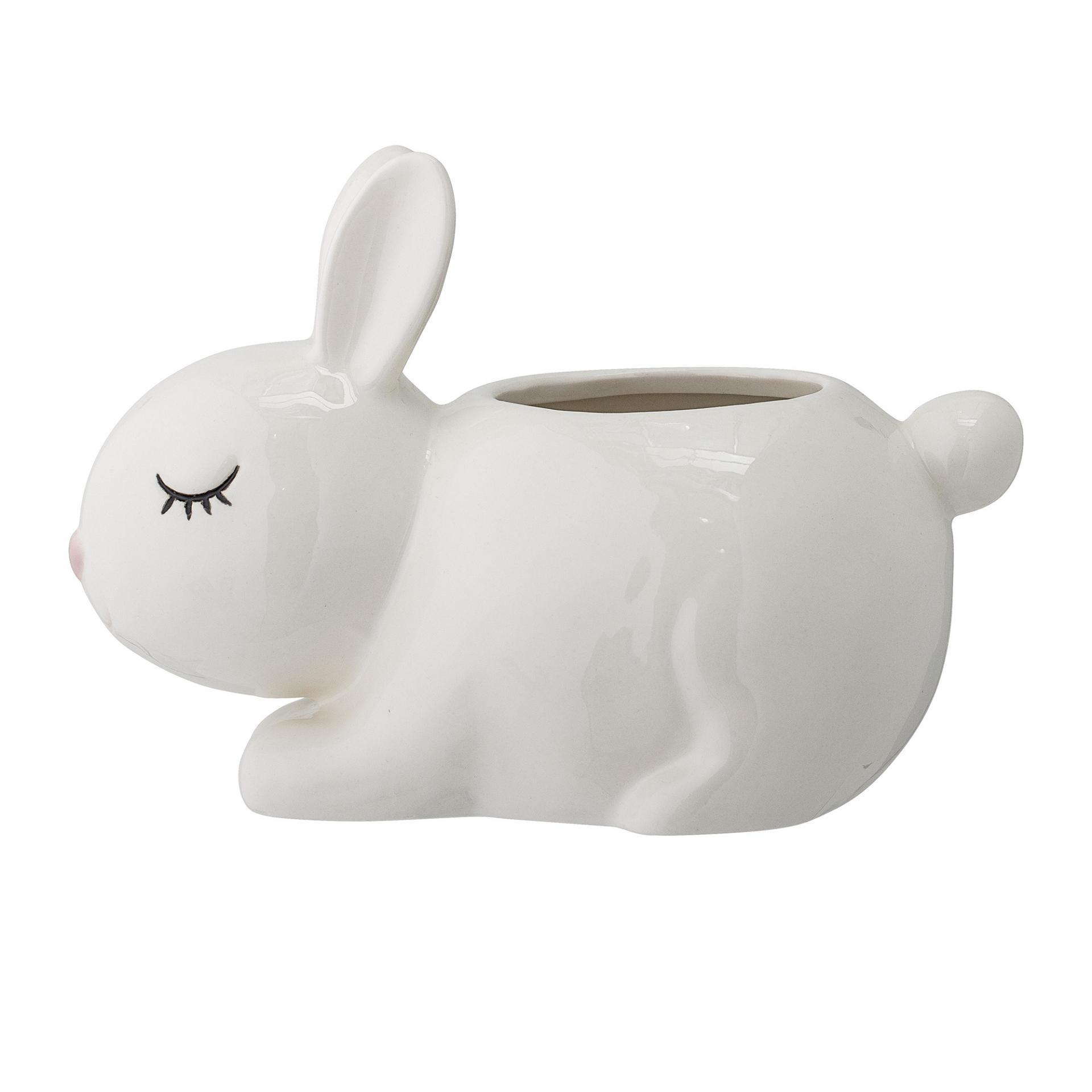 Bloomingville Stojánek na tužky Rabbit, bílá barva, porcelán