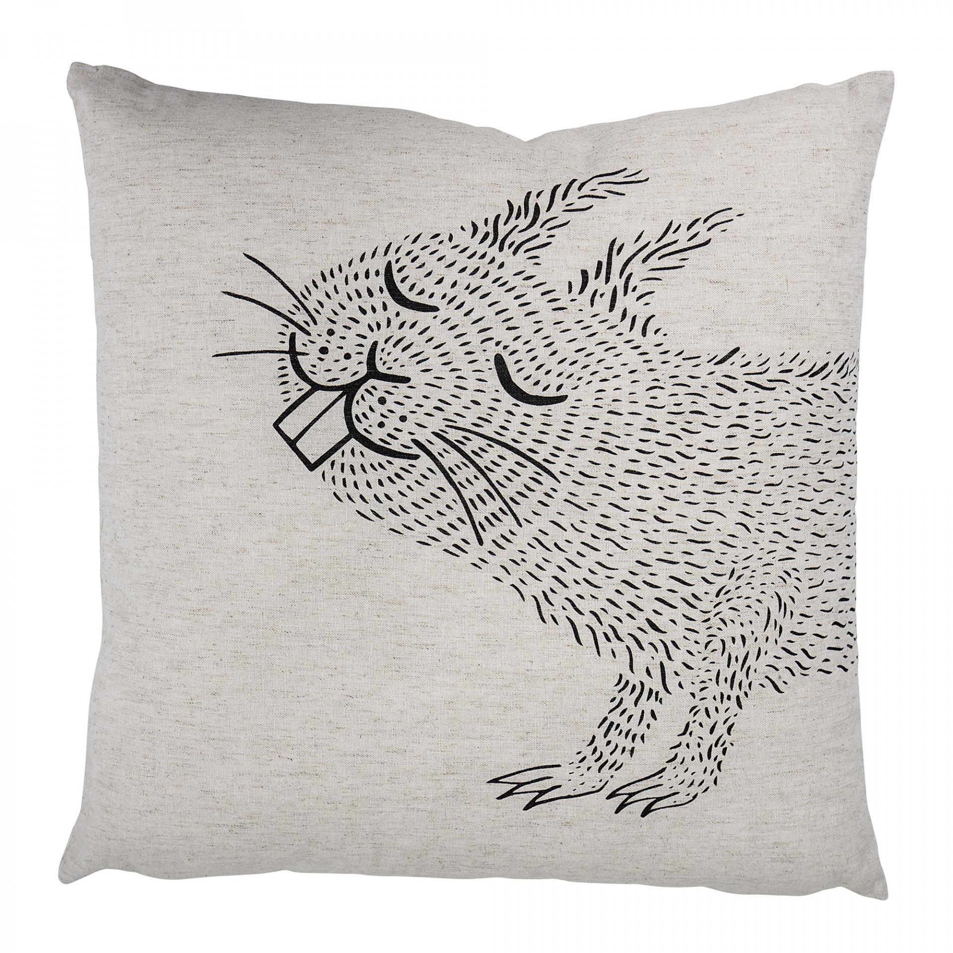 Bloomingville Dětský polštářek s veverkou Nature, textil