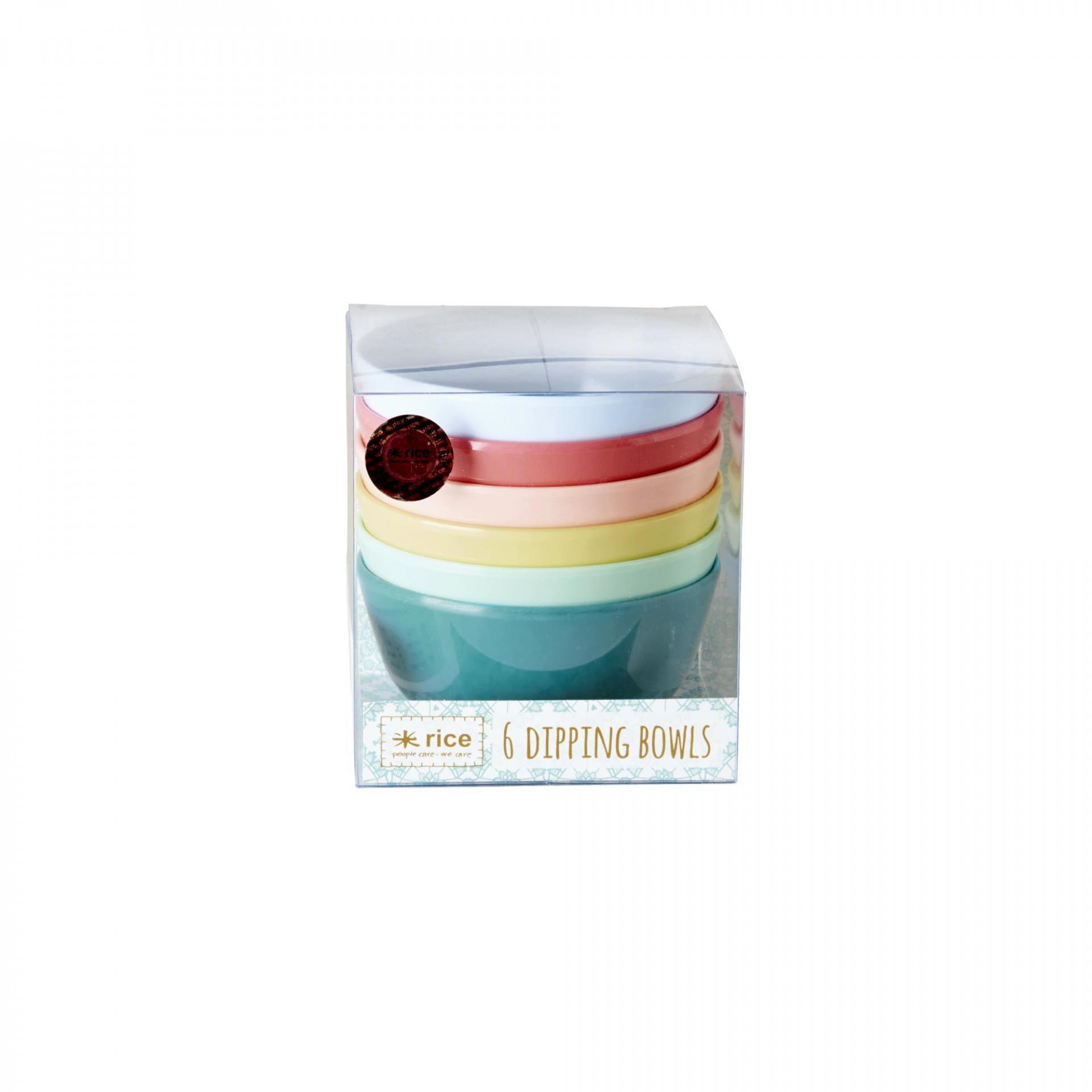 rice Barevné melaminové mističky - set 6 kusů, multi barva, melamin