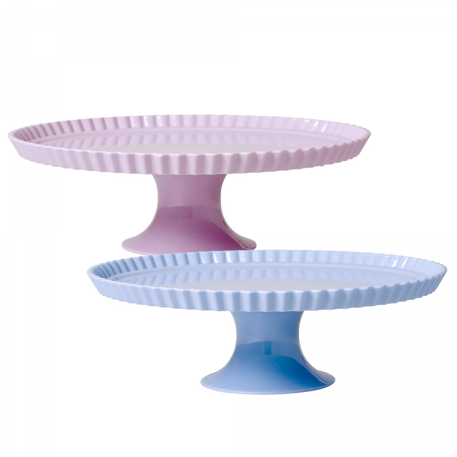rice Melaminový dortový stojan Modrá, růžová barva, modrá barva, melamin