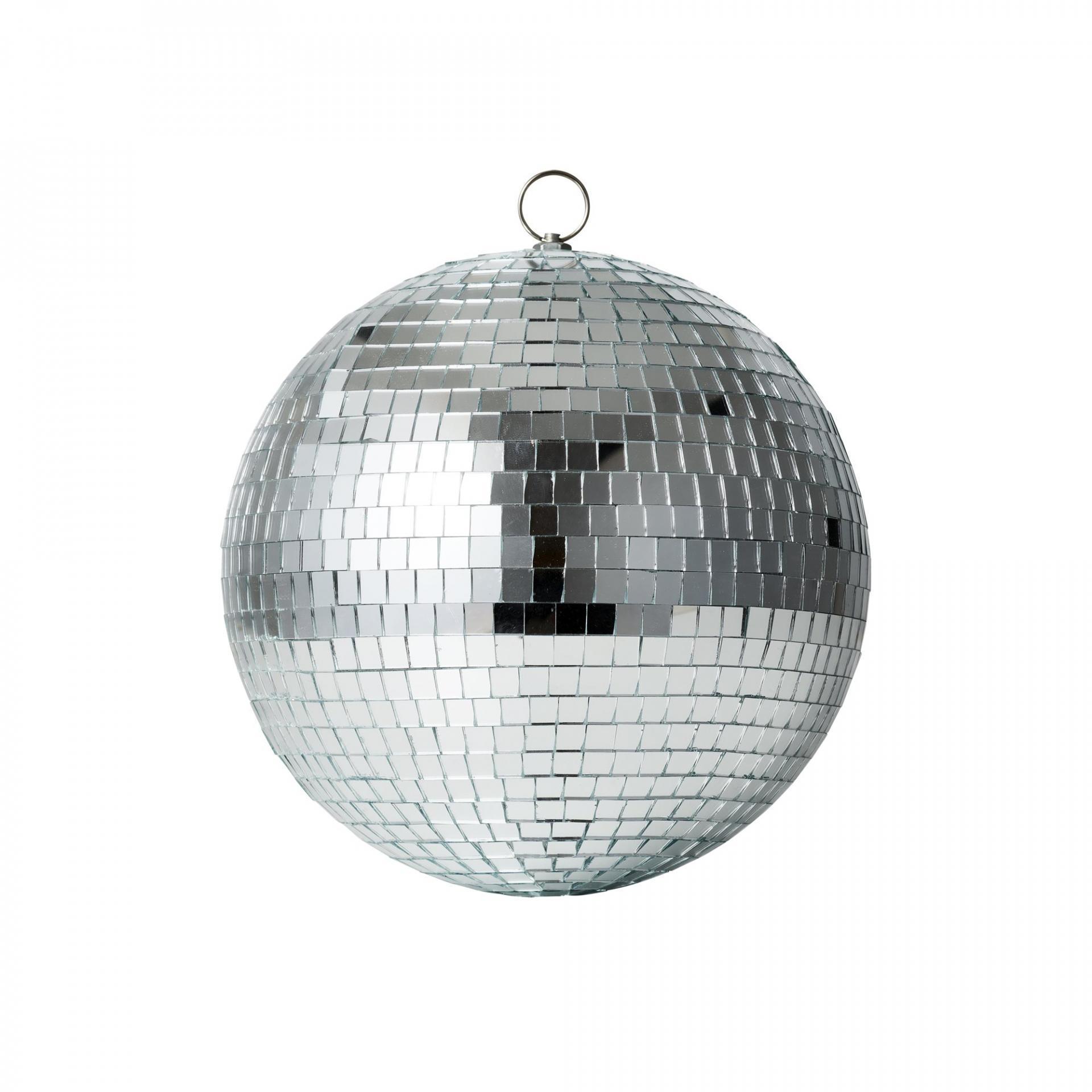 rice Závěsná dekorace Disco Ball, stříbrná barva, plast