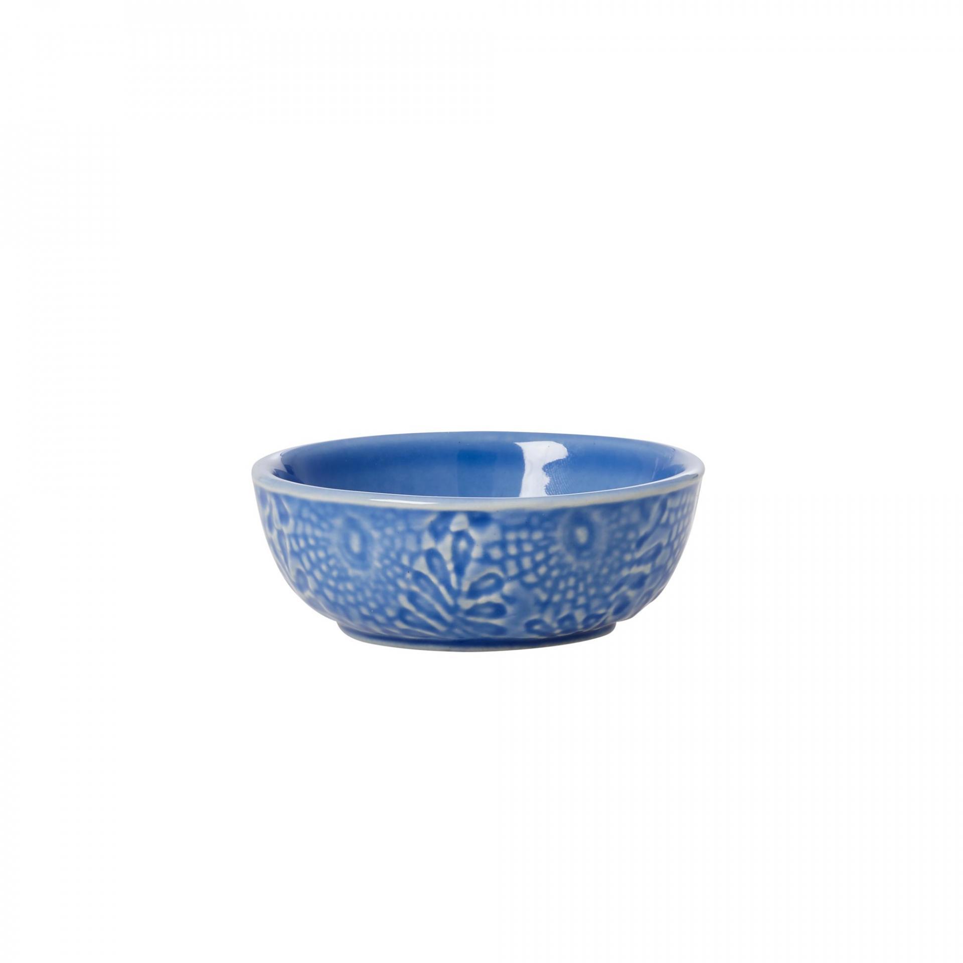 rice Kameninová mini mistička Blue, modrá barva, keramika