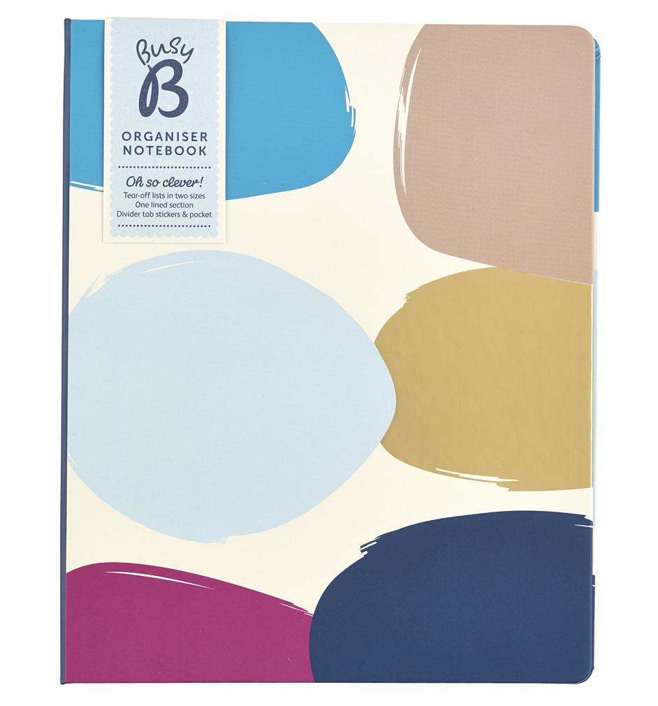 Busy B Zápisník Organizer Notebook Contemporary, růžová barva, modrá barva, papír