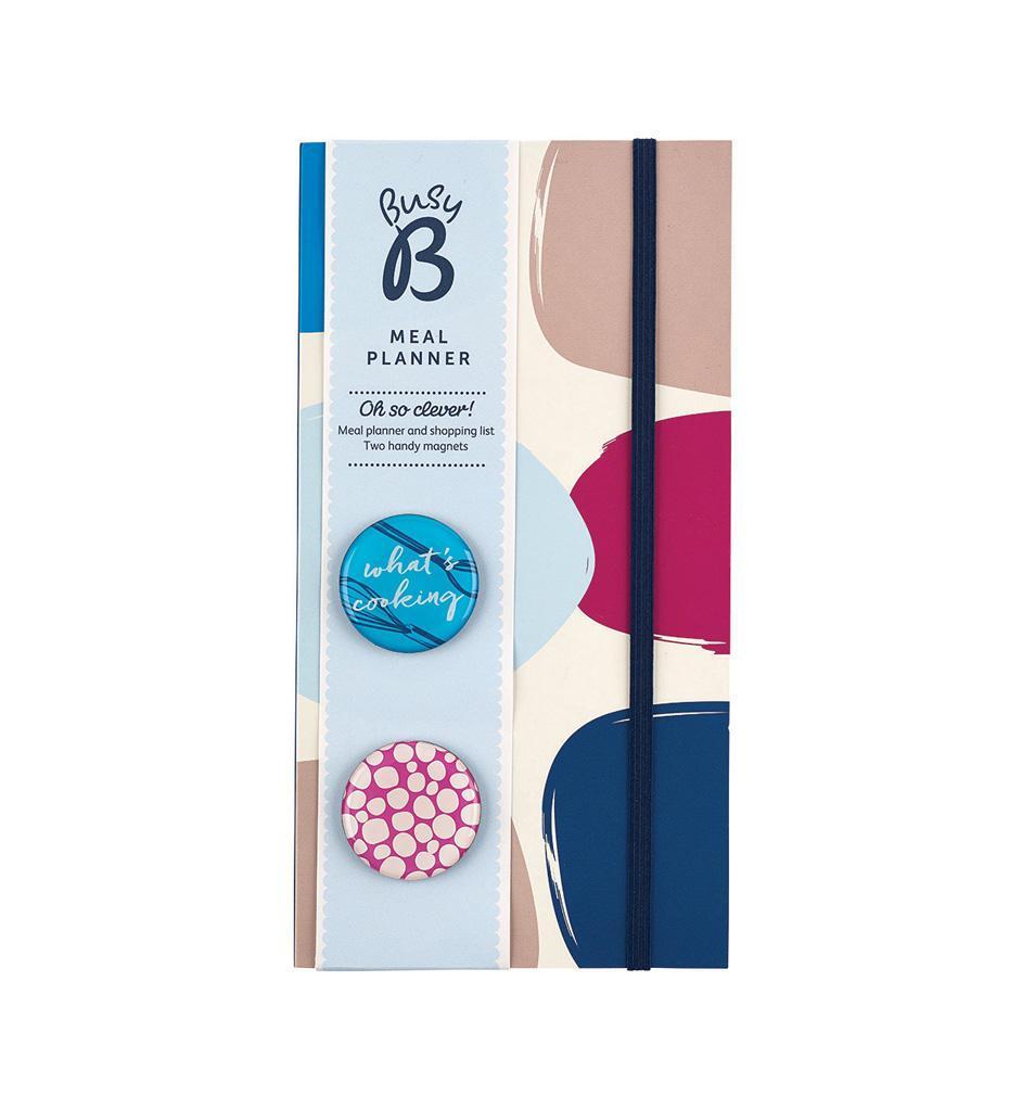 Busy B Plánovač nákupů a týdenního menu Contemporary, růžová barva, modrá barva, papír