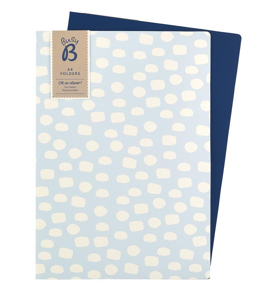 Busy B Set pevných složek Contemporary A4, modrá barva, bílá barva, papír