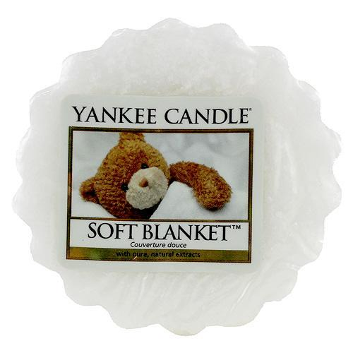 Yankee Candle Vosk do aromalampy Yankee Candle - Soft Blanket, bílá barva, vosk