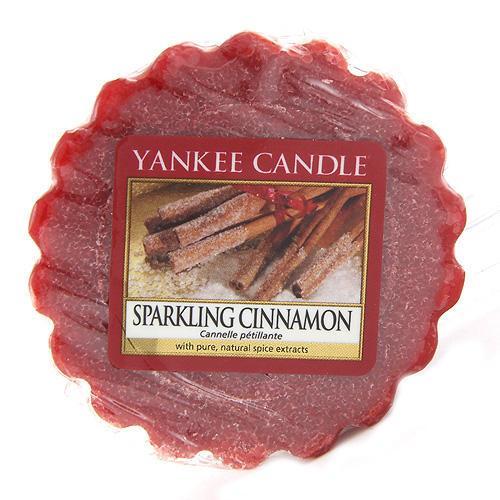 Yankee Candle Vosk do aromalampy Yankee Candle - Sparkling Cinnamon, červená barva, vosk