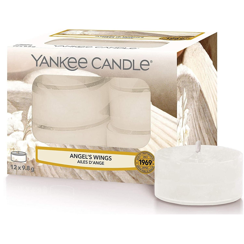 Yankee Candle Čajové svíčky Yankee Candle 12ks - Angel Wings, bílá barva, vosk