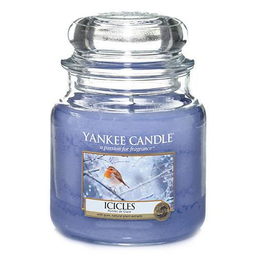 Yankee Candle Svíčka Yankee Candle 411gr - Icicles, modrá barva, sklo