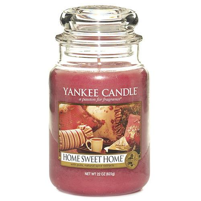 Yankee Candle Svíčka Yankee Candle 623gr - Home Sweet Home, růžová barva, sklo