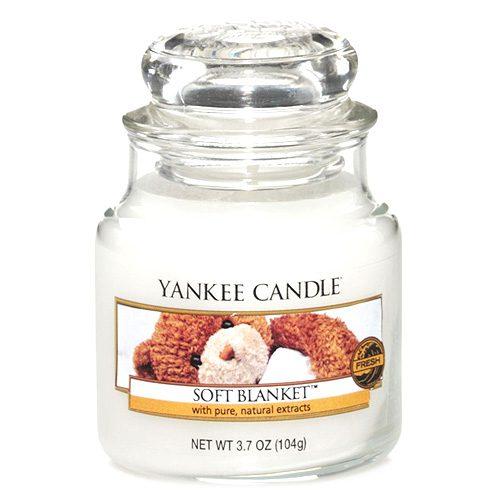 Yankee Candle Svíčka Yankee Candle 104gr - Soft Blanket, bílá barva