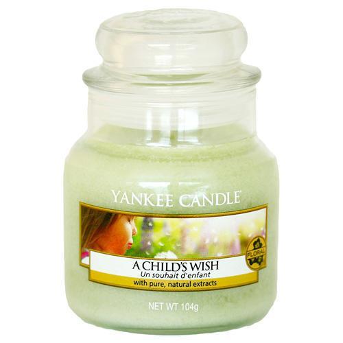 Yankee Candle Svíčka Yankee Candle 104gr - A Child´s Wish, zelená barva, sklo
