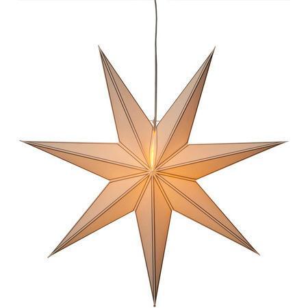 STAR TRADING Závěsná svítící hvězda Nicolas Silver 80 cm, bílá barva, stříbrná barva, papír