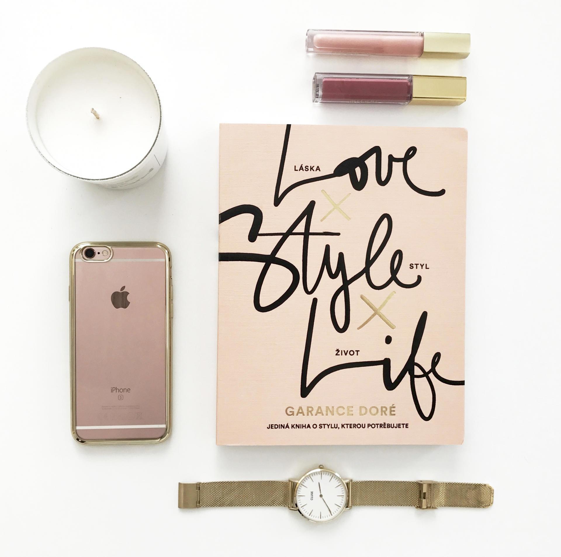 Kniha Love x Style x Life - Garance Doré, béžová barva, krémová barva, papír