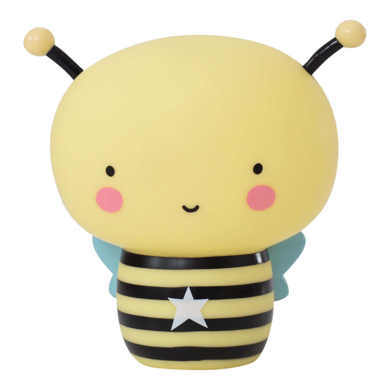 A Little Lovely Company Noční dobíjecí LED lampička Bee, žlutá barva, černá barva, plast