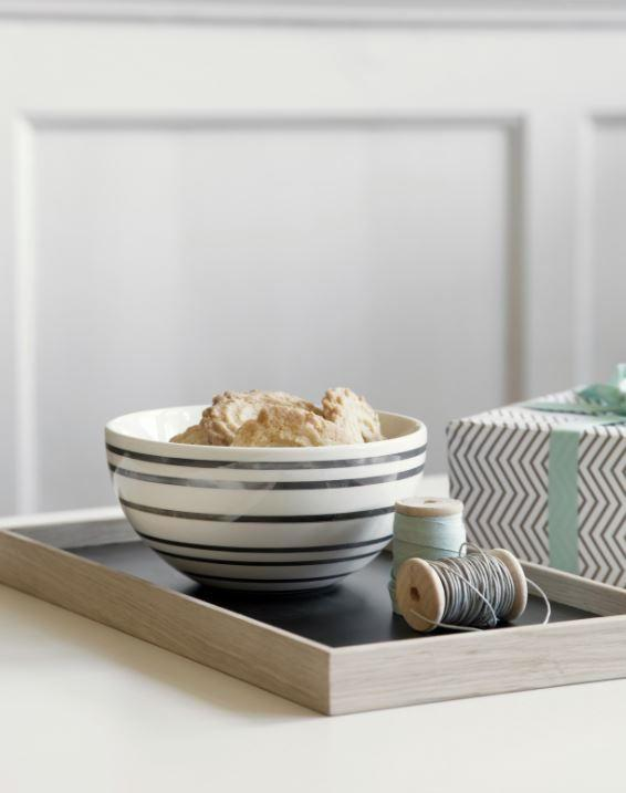 KÄHLER Keramická miska Omaggio Silver, bílá barva, stříbrná barva, keramika
