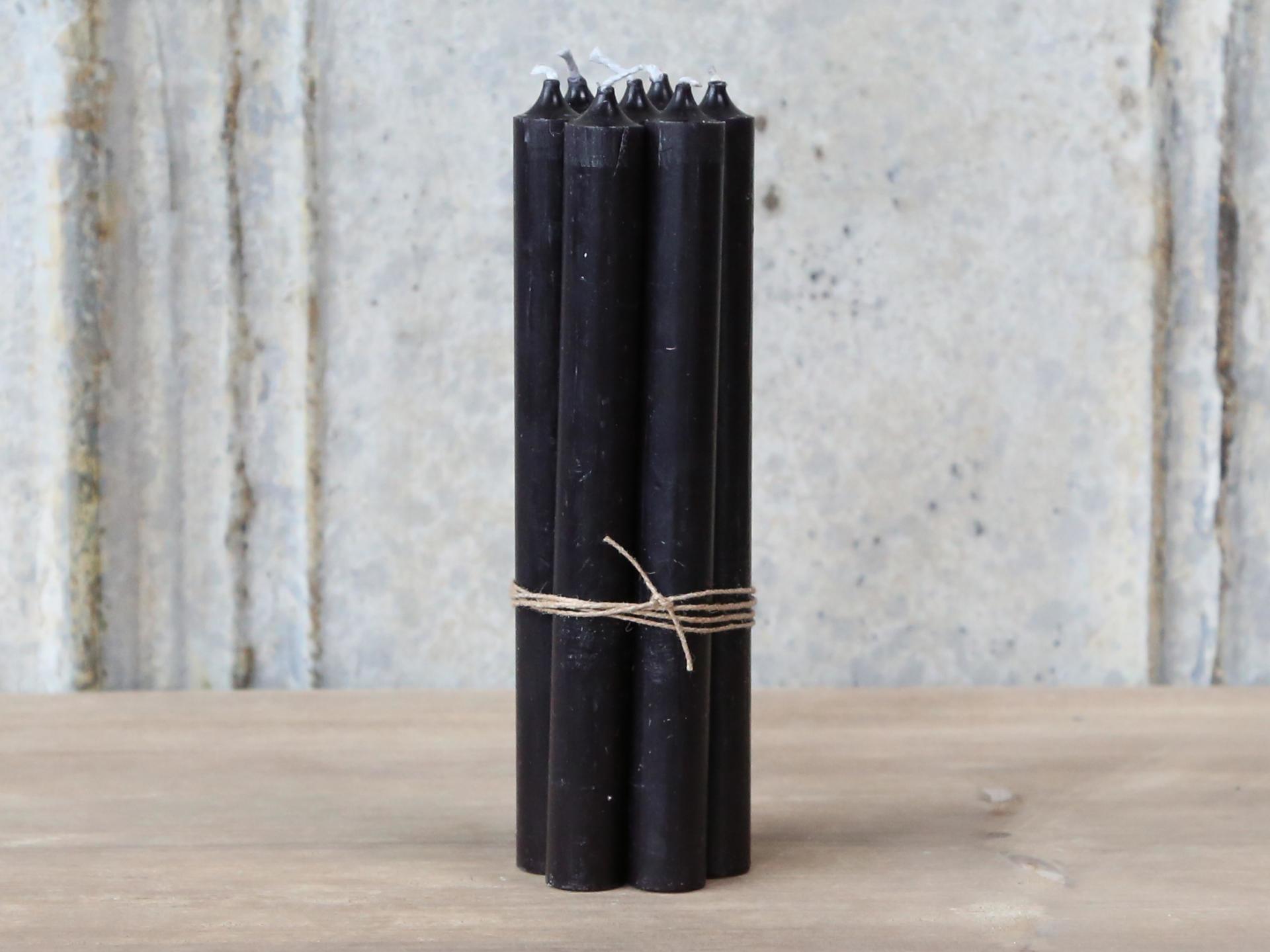 Chic Antique Svíčka Black - 5ks, černá barva, vosk