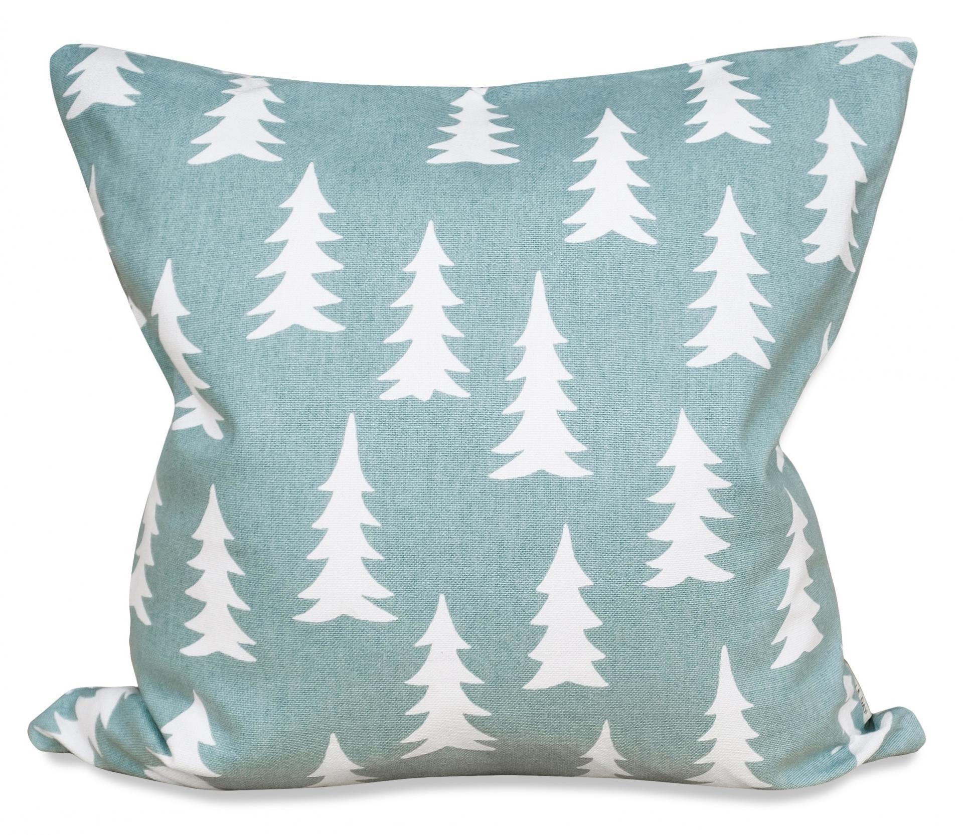 Fine Little Day Povlak na polštář Gran Turquoise 50x50 cm, modrá barva, zelená barva, textil