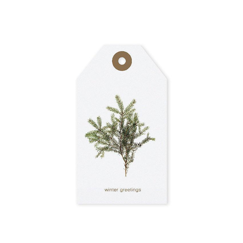TAFELGUT Vánoční štítek Winter Greetings 6x10,5 cm, bílá barva, papír