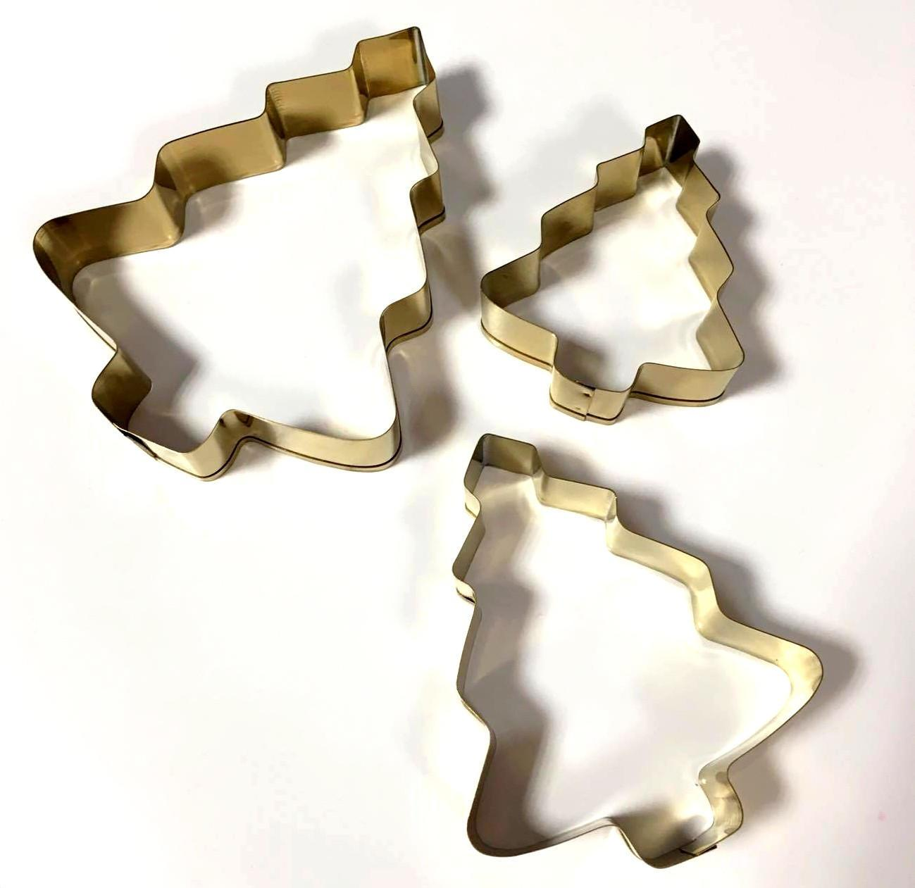TAFELGUT Vykrajovátka Tree - set 3 ks, zlatá barva, kov