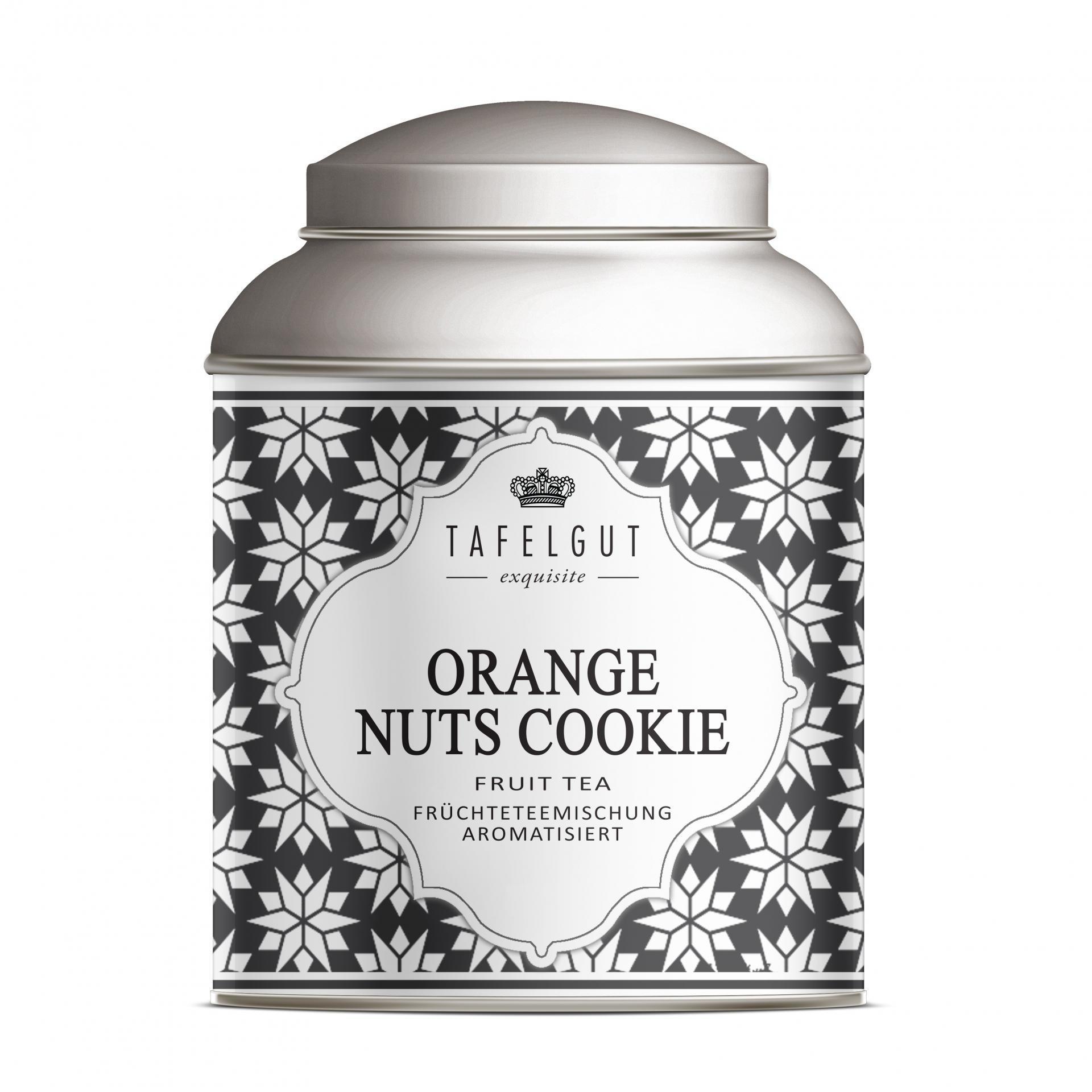 TAFELGUT Mini ovocný čaj Orange Nuts Cookie - 40gr, černá barva, kov