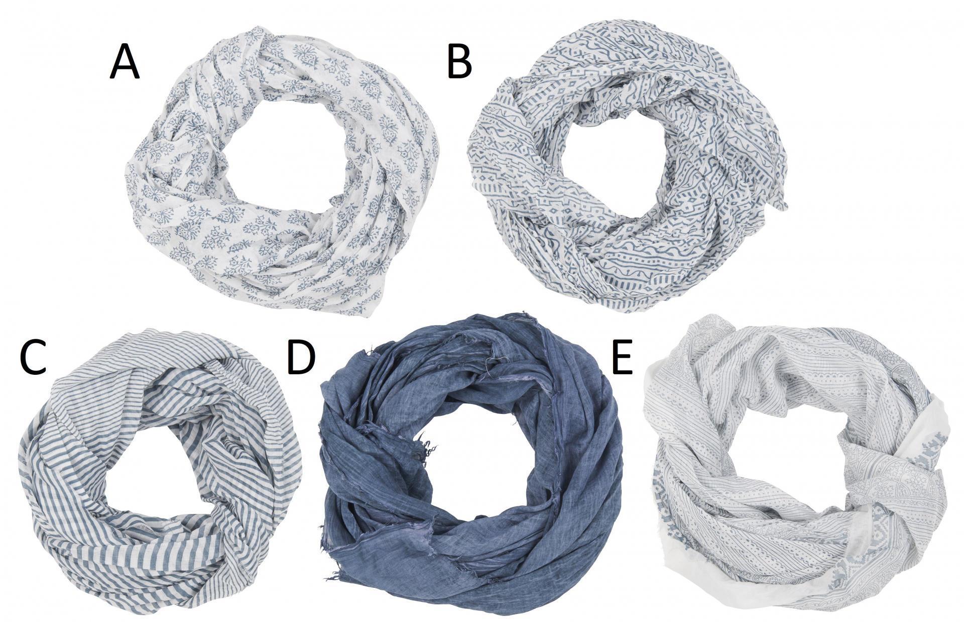 IB LAURSEN Dámský šátek Grey Green Typ A, šedá barva, bílá barva, textil