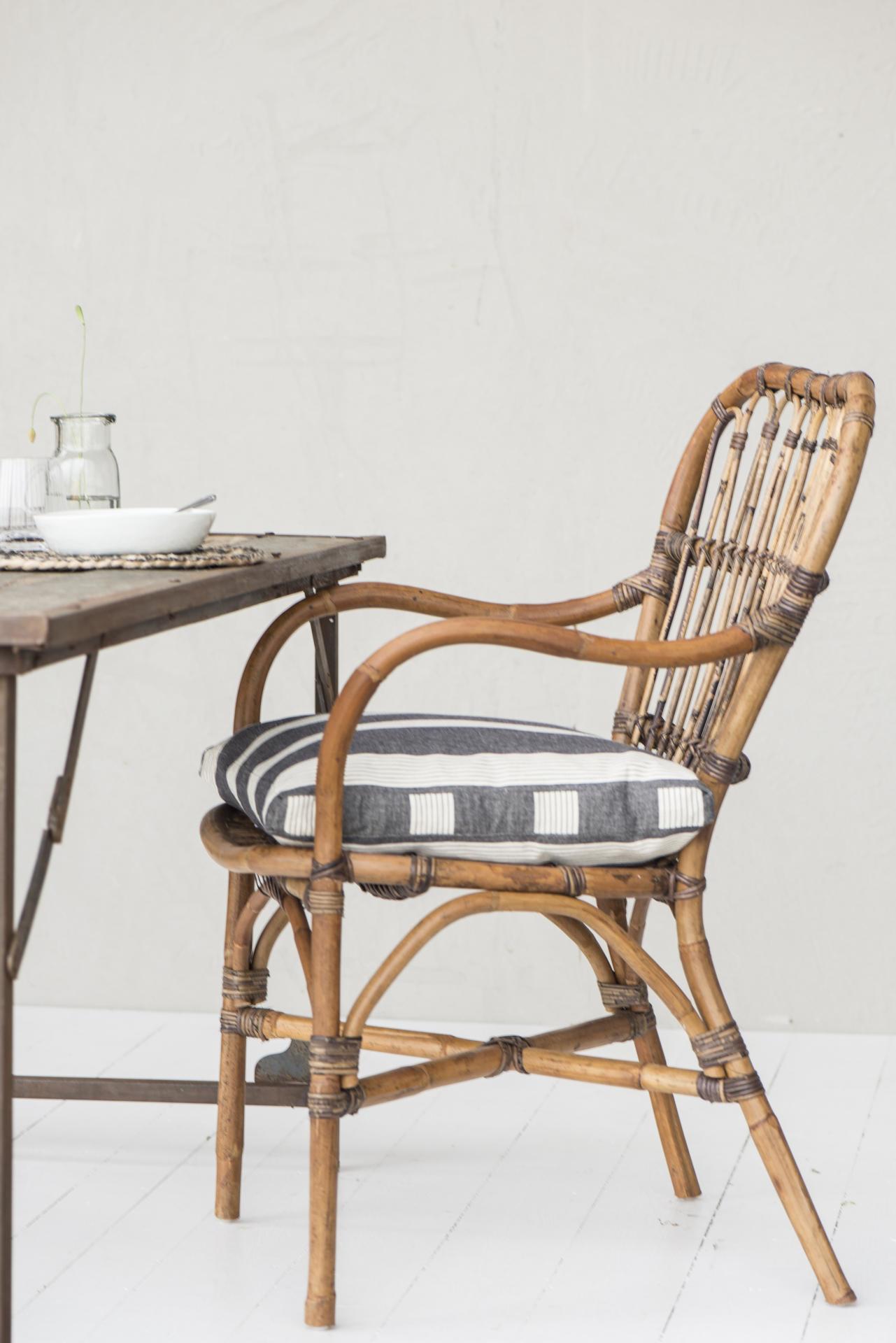 IB LAURSEN Ratanová židle Natural, hnědá barva, dřevo