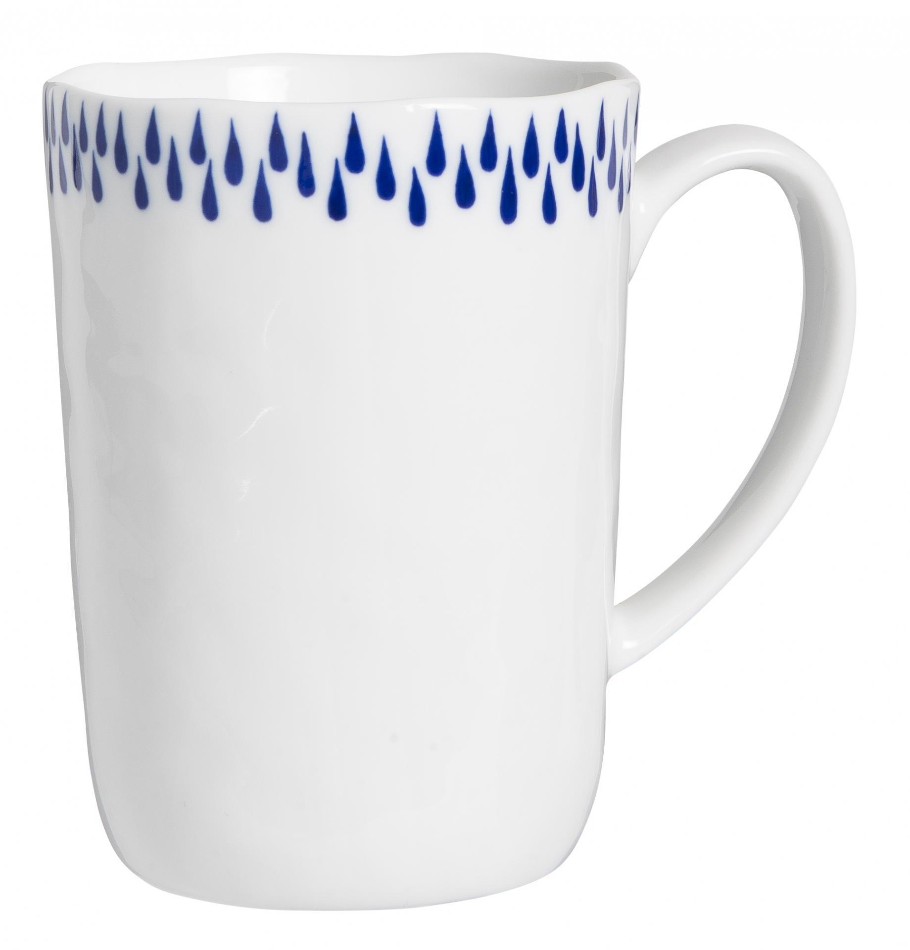 IB LAURSEN Porcelánový hrneček Delicate Blue 320ml, modrá barva, bílá barva, porcelán