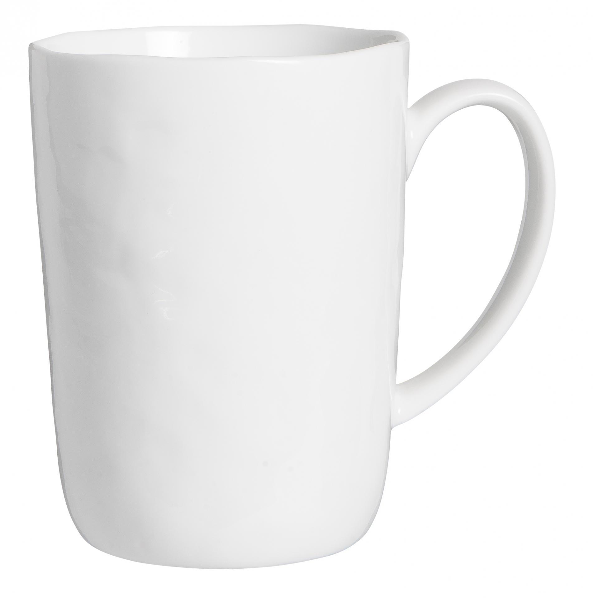 IB LAURSEN Porcelánový hrneček Delicate White 320 ml, bílá barva, porcelán