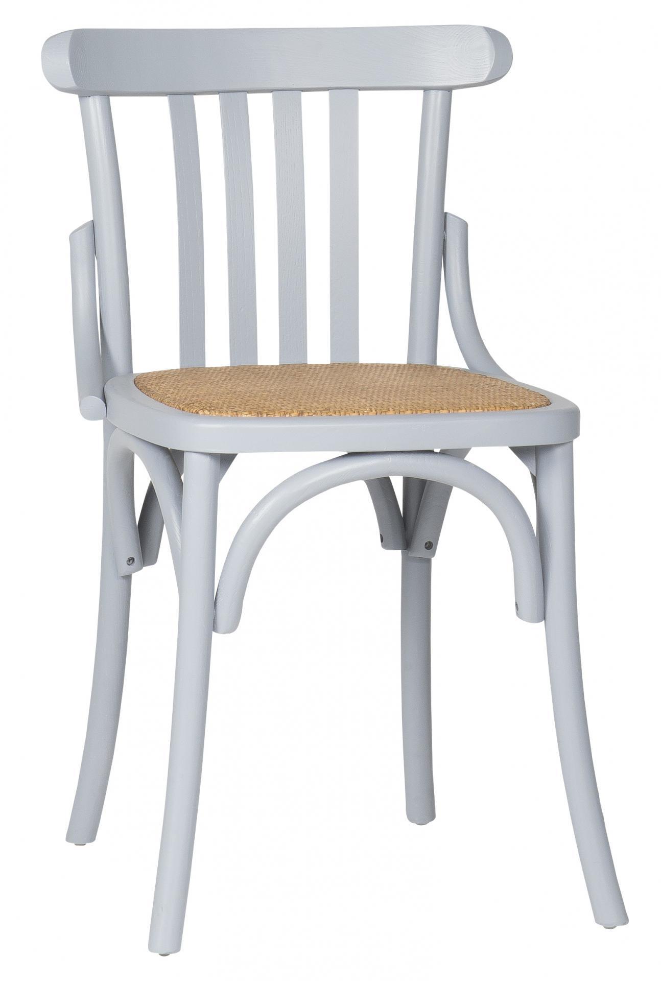 IB LAURSEN Dřevěná židle Marais Grey, šedá barva, dřevo, kov