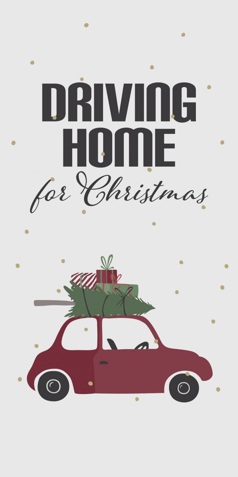 IB LAURSEN Vánoční papírové ubrousky Driving Home, červená barva, bílá barva, papír