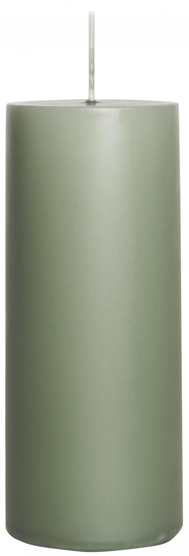 IB LAURSEN Svíčka Moss green 15 cm, zelená barva, vosk