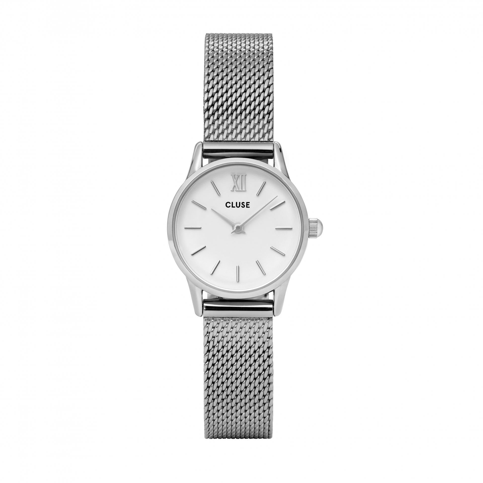 CLUSE Hodinky Cluse La Vedette Mesh Silver/White, stříbrná barva, kov