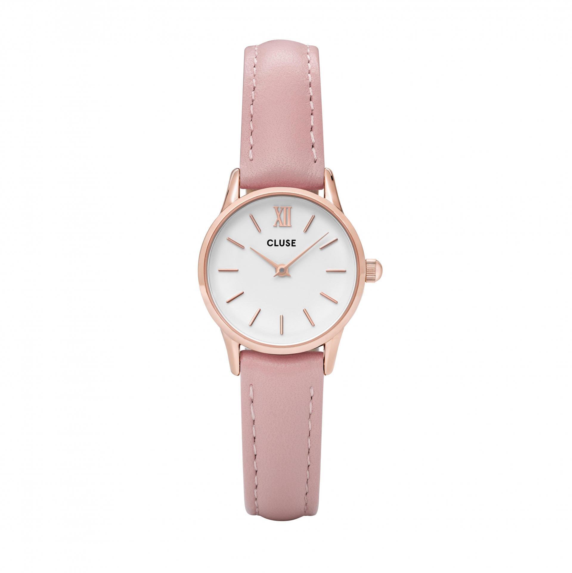 CLUSE Hodinky Cluse La Vedette Rose Gold White/Pink, růžová barva, zlatá barva, kov, kůže
