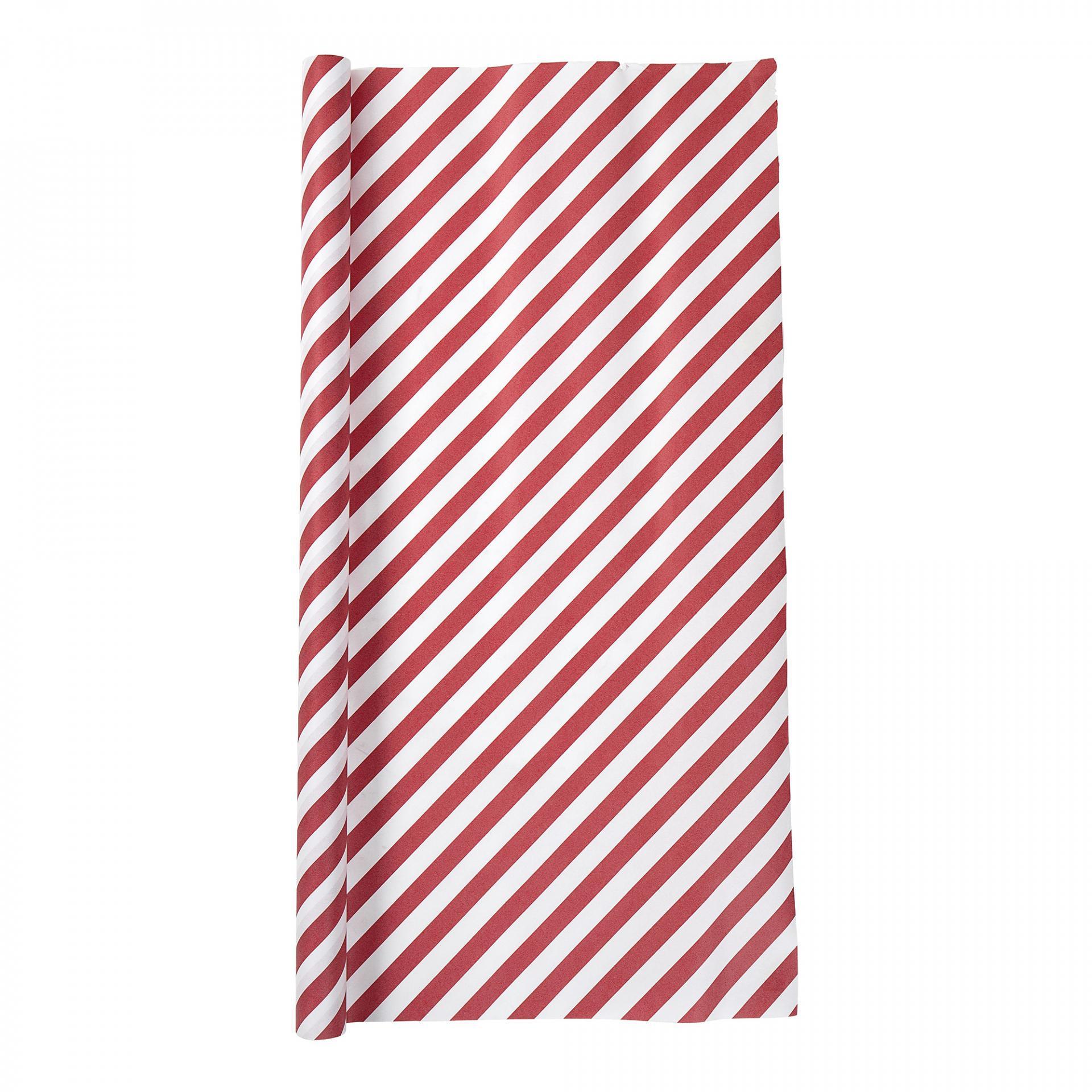 Bloomingville Balící papír Red stripe, červená barva, papír