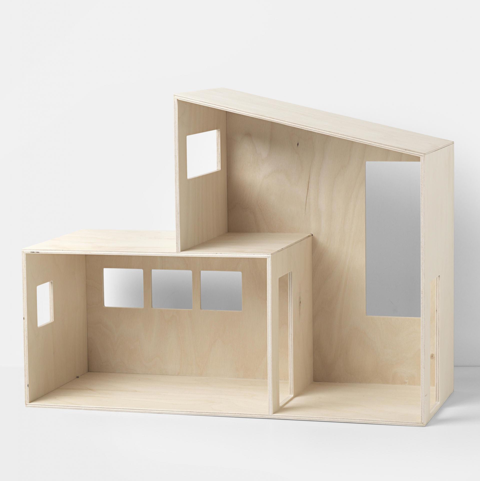 ferm LIVING Multifunkční domeček pro děti Funkis, přírodní barva, dřevo