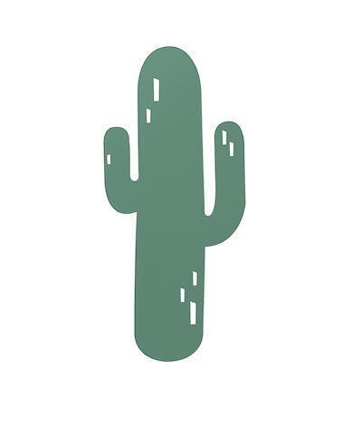 ferm LIVING Nástěnná lampa Cactus, zelená barva, dřevo