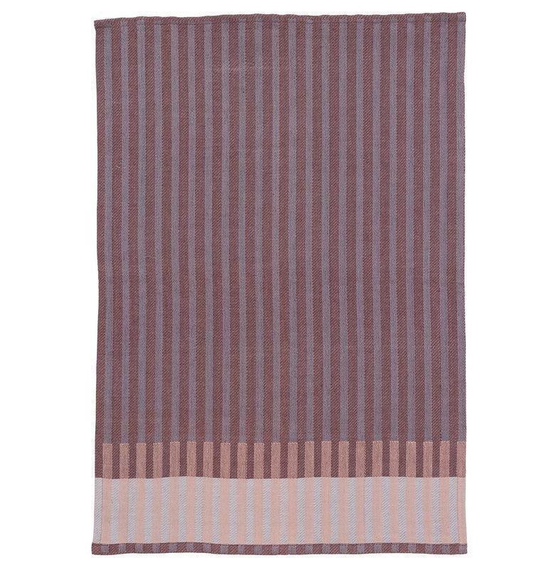 ferm LIVING Bavlněná utěrka Tea towel, červená barva, textil