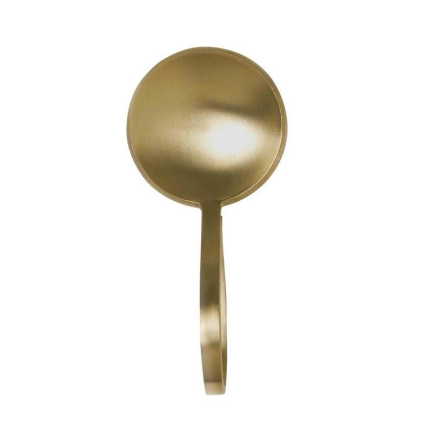 ferm LIVING Lžička na posypku Gold, zlatá barva, kov