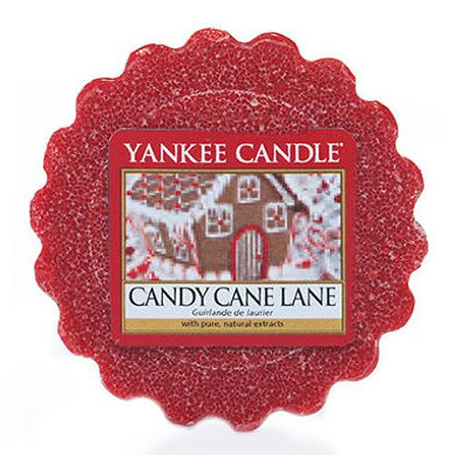 Yankee Candle Vosk do aromalampy Yankee Candle - Candy Cane Lane, červená barva, vosk