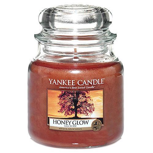 Yankee Candle Svíčka Yankee Candle 411gr - Honey Glow, oranžová barva, sklo, vosk