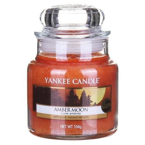 Yankee Candle Svíčka Yankee Candle 104gr - Amber Moon, oranžová barva, sklo, vosk