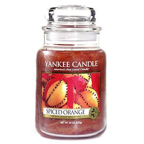 Yankee Candle Svíčka Yankee Candle 623gr - Spiced Orange, oranžová barva, sklo, vosk