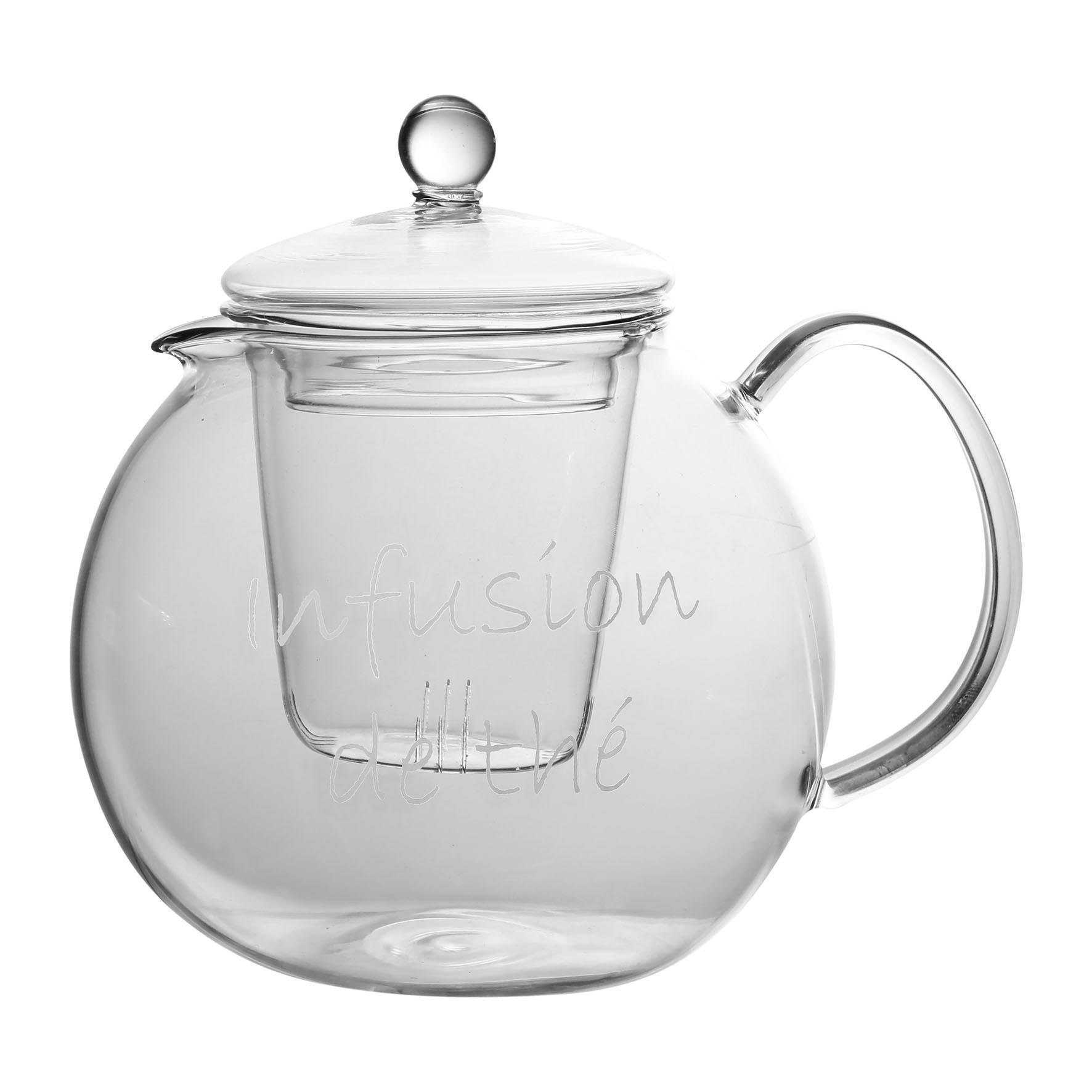 CÔTÉ TABLE Skleněná konvice na čaj Clear 1,5l, čirá barva, sklo