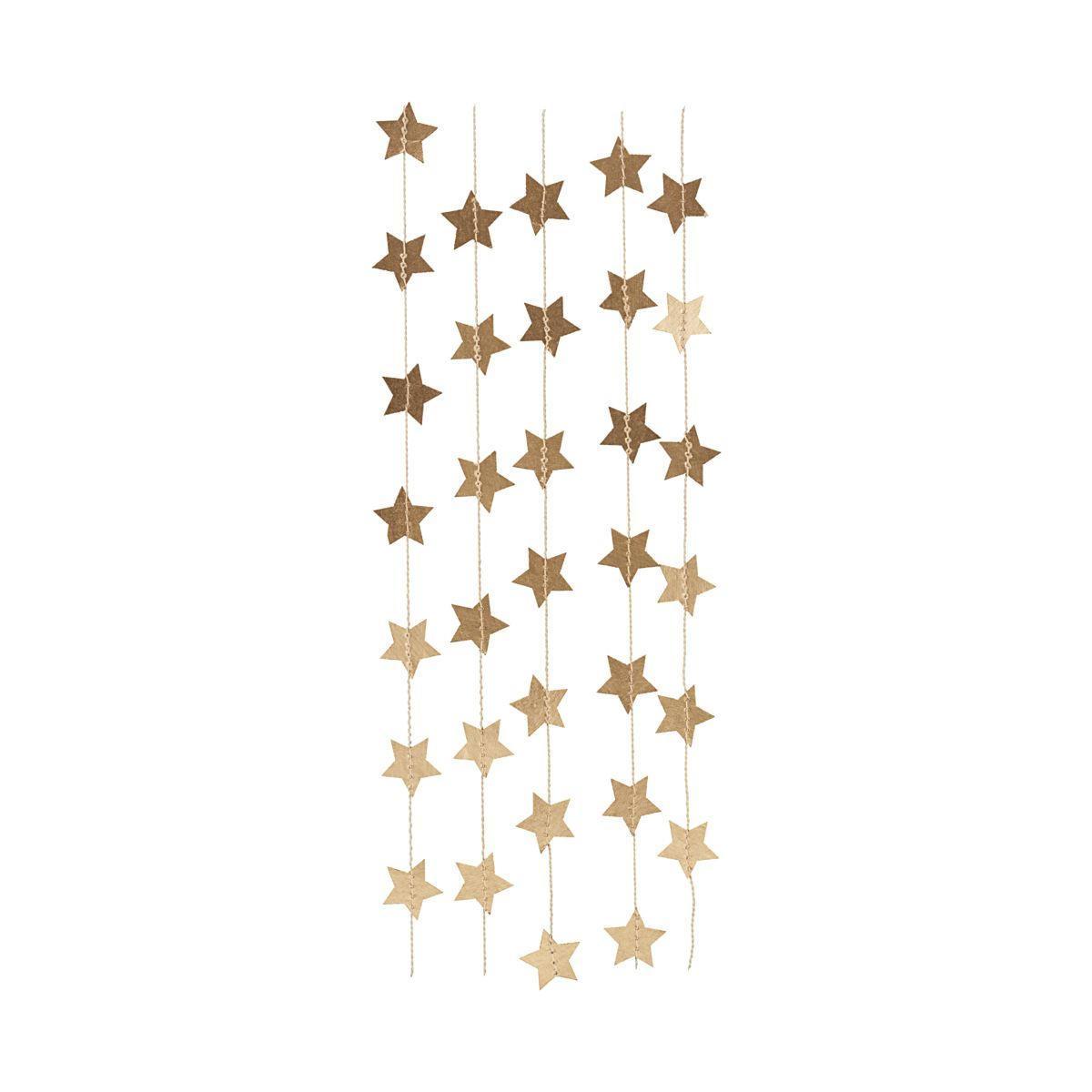 House Doctor Vánoční papírová girlanda Star, zlatá barva, papír