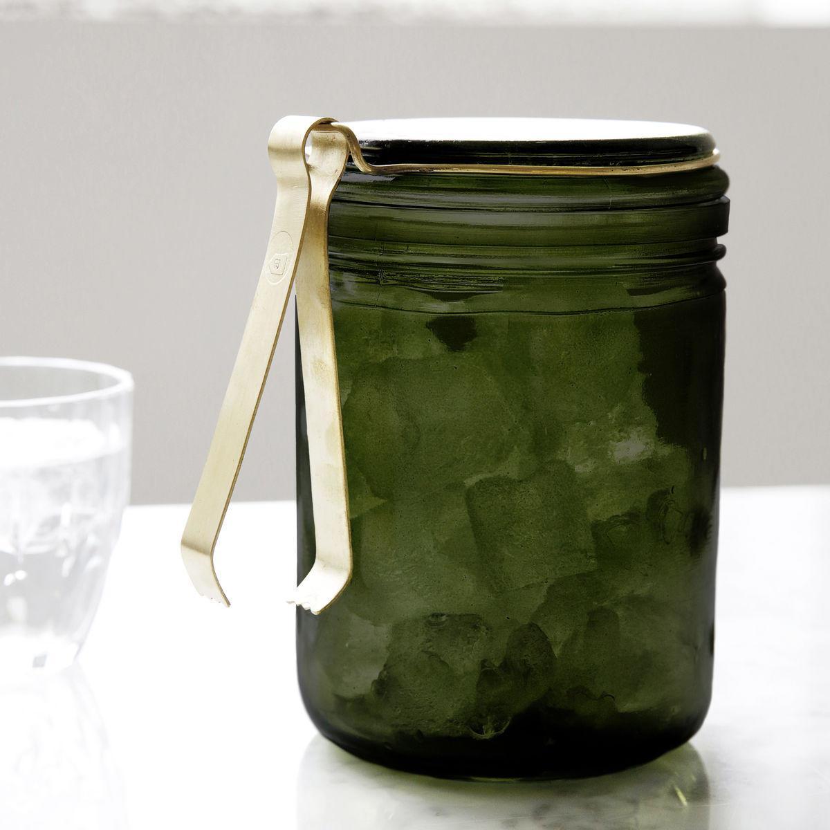 House Doctor Skleněná dóza na led Green, zelená barva, sklo